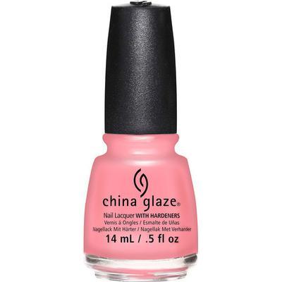 China Glaze Nail Lacquer Pink or Swim 14ml
