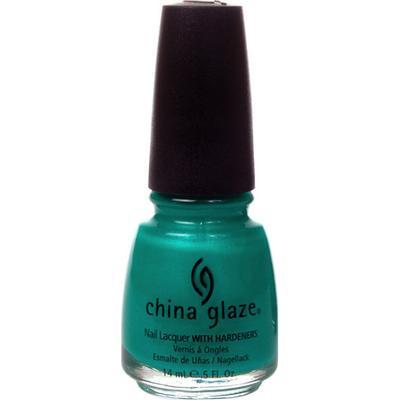 China Glaze Nail Lacquer Turned Up Turquoise 14ml