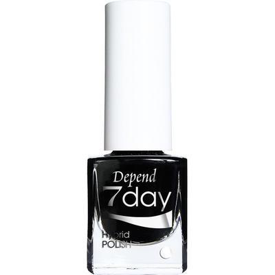 Depend 7Day Hybrid Polish Goth Black 5ml