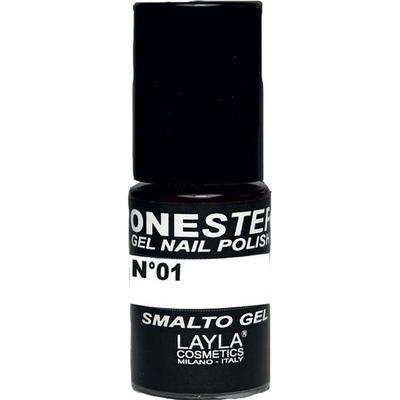 Layla Cosmetics One Step Gel Nail Polish #01 100% White 5ml