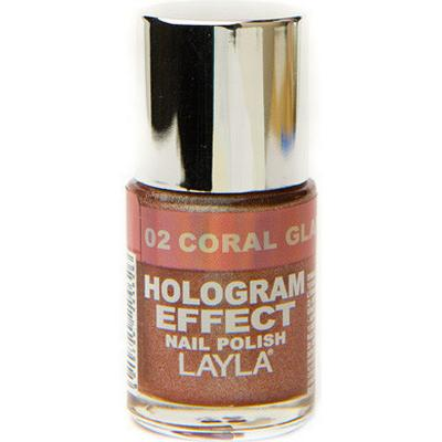Layla Cosmetics Hologram Effect 02 Coral Glam 10ml