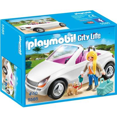 Playmobil Convertible With Woman & Puppy 5585