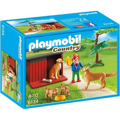 Playmobil Golden Retrievers With Toy 6134