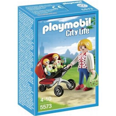 Playmobil Mother With Twin Stroller 5573