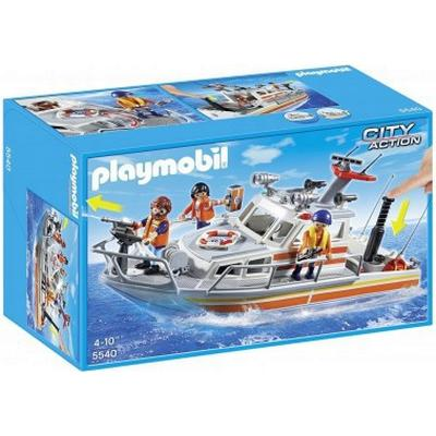 Playmobil Rescue Boat With Water Hose 5540