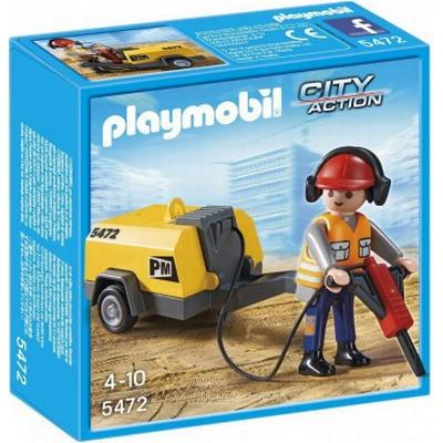 Playmobil Construction Worker with Jack Hammer 5472