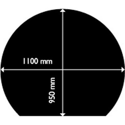 Aduro Steel Floor Hearth Round With Edge 1.5mm 95X110cm