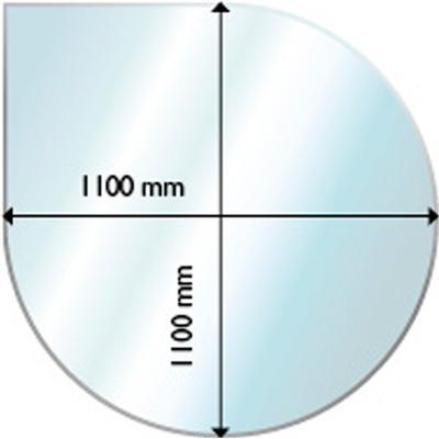 Aduro Glass Floor Hearth Drop Shaped 6mm 110X110cm