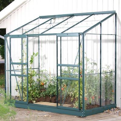 Vitavia IDA Vægdrivhus 3.3m² Alu+Glass Aluminium