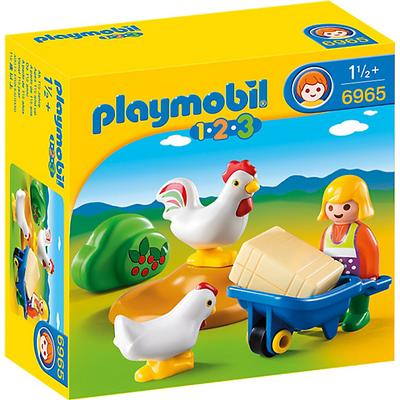 Playmobil Farmer's Wife With Hens 6965