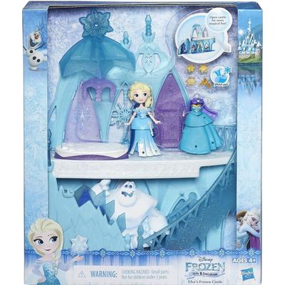 Hasbro Disney Small Elsa doll with Ice Castle