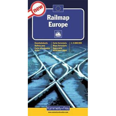 Järnvägskarta Europa Kümmerley Frey: 1:5milj (Karta, Falsad., 2012)