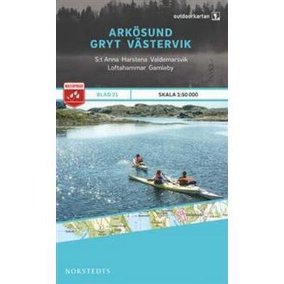 Outdoorkartan Arkösund Gryt Västervik: Blad 21 skala 1:50000 (Karta, Falsad., 2015)