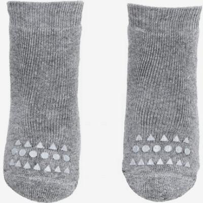 Go Baby Go Non Slip Socks Winter Cotton - Grey Melange