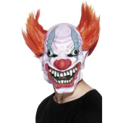 Smiffys Clownmask, vit röd blå
