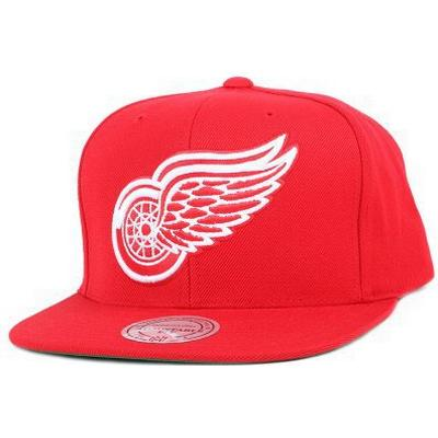 Mitchell & Ness Detroit Red Wings Wool Solid Red Snapback