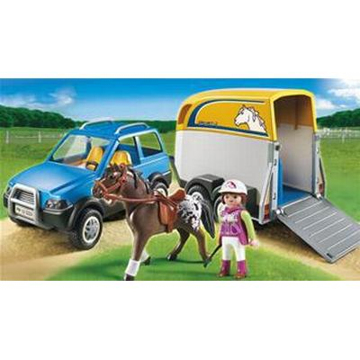 Playmobil Jeep With Horse Trailer 5223