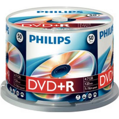 Philips DVD+R 4.7GB 16x Spindle 50-Pack
