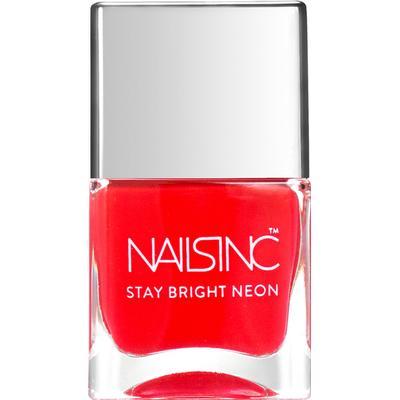 Nails Inc Great Eastern Street Nail Polish Neon Coral