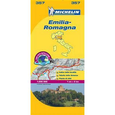 Emilia Romagna Michelin 357 delkarta Italien: 1:200000 (Karta, Falsad., 2014)