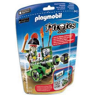 Playmobil Green Interactive Cannon with Pirate Captain 6162