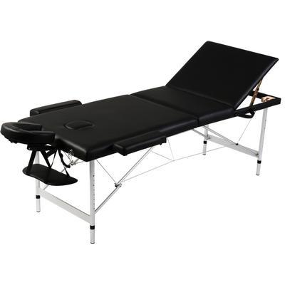 vidaXL Vikbart massagebord med 3 zoner 110092