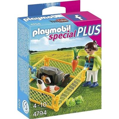 Playmobil Girl & Guinea Pigs 4794