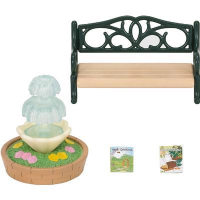 Sylvanian Families Fountain & Garden Bench