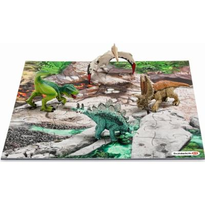 Schleich Mini Dinosaurs with Discovery Puzzle 42213