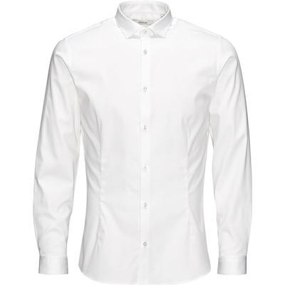 Jack & Jones Casual Slim Fit Long Sleeved Shirt White/White (12097662)