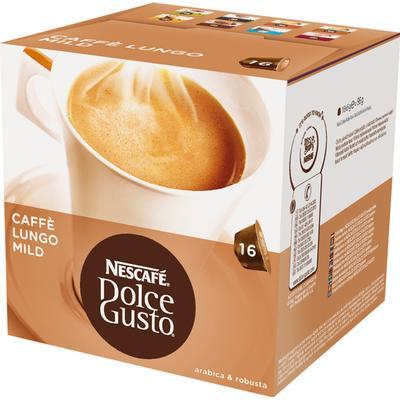 Nescafé Dolce Gusto Lungo Mild 16 kaffe kapslar