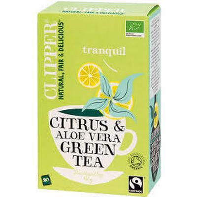 Clipper Organisk grönt te med Aloe Vera & Citrus