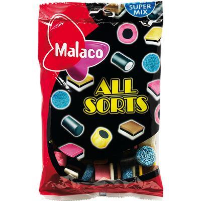 Malaco Lakritskonfekt Allsorts Engelsk Mal