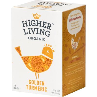 Higher Living Golden Turmeric 15 Tepåsar