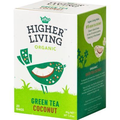 Higher Living Green Tea Coconut 20 Tepåsar