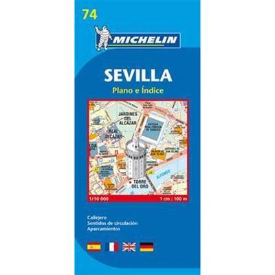 Sevilla Michelin 74 stadskarta: 1:10000 (Karta, Falsad., 2013)