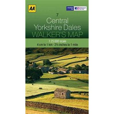 Aa Central Yorkshire Dales Walker's Map (Pocket, 2012)