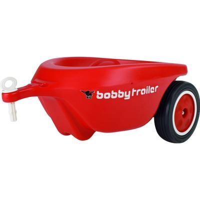 Big New Bobby Car Släp med Tystgående Hjul Röd