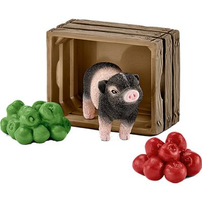 Schleich Mini Pig with Apples 42292