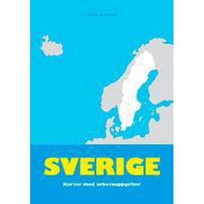 Sverige - kartor med arbetsuppgifter (Häftad, 1986)