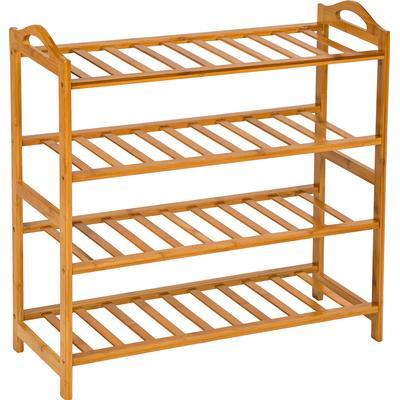TecTake Bamboo 4 Shelves