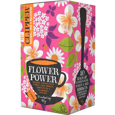 Clipper Flower Power Organic Infusion 20 Tepåsar