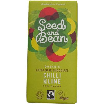 Seed and Bean Organic Chilli and Lime Dark Chocolate Bar