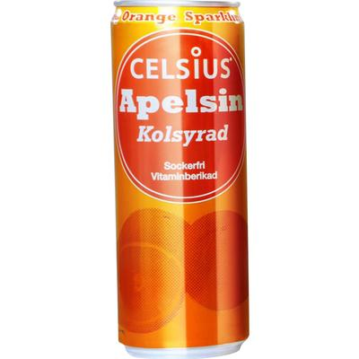 Celsius Kolsyrad Orange 355ml