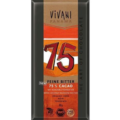 Vivani Mörk med 75% Kakao