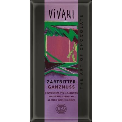Vivani Mörk Choklad med Hela Hasselnötter