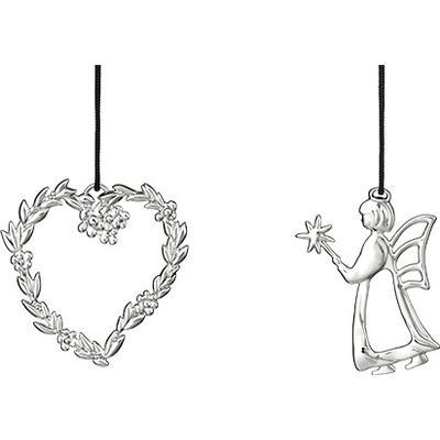 Rosendahl Karen Blixen Leaf Heart & Angelfish Julpynt