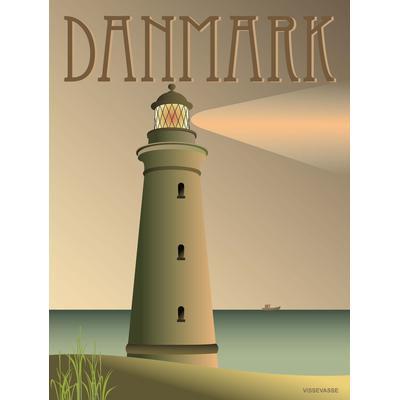 Vissevasse Denmark Light House 30x40cm Affisch