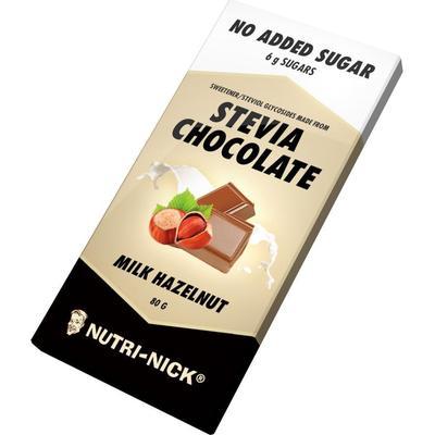 Nutri-Nick Stevia Chocolate Mjölkchoklad med Hasselnötter