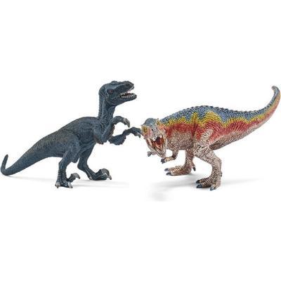 Schleich T Rex & Velociraptor 42216